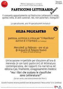 Pasticcino Letterario 23/02 – Gilda policastro