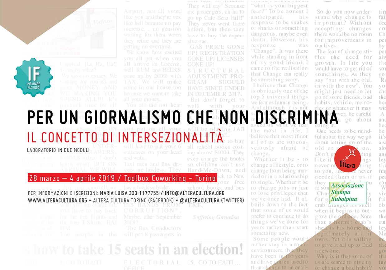 IF - Per un giornalismo che non discrimina / Il concetto di intersezionalità