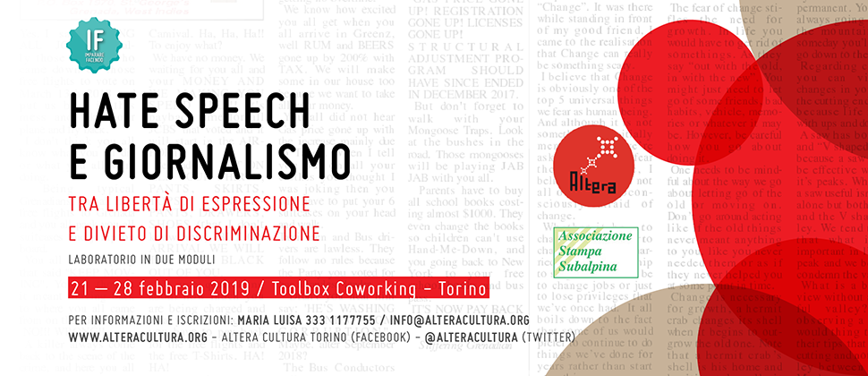 IF – HATE SPEECH E GIORNALISMO