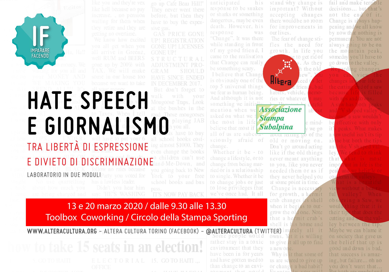 IF Hate Speech e giornalismo